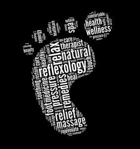 Reflexology in word collage