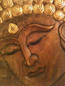 our wooden buddha image